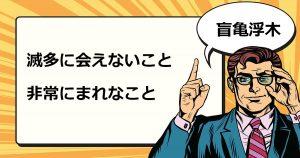 盲亀浮木(もうきふぼく)
